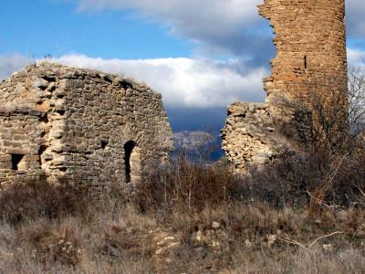 Puigcercós vell, el poble esfondrat