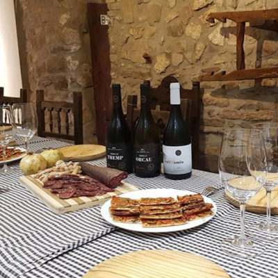 Visit to the Terrer de Pallars with tasting and lunch from Pallarés